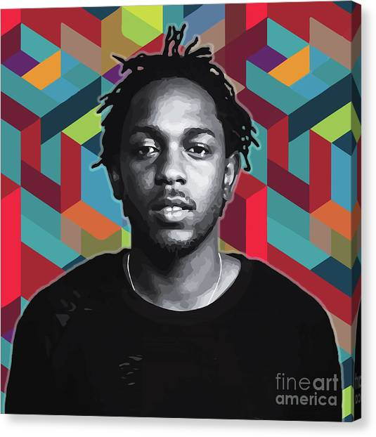Canvas Print featuring the painting Don't Kill My Vibe Kendrick by Carla B