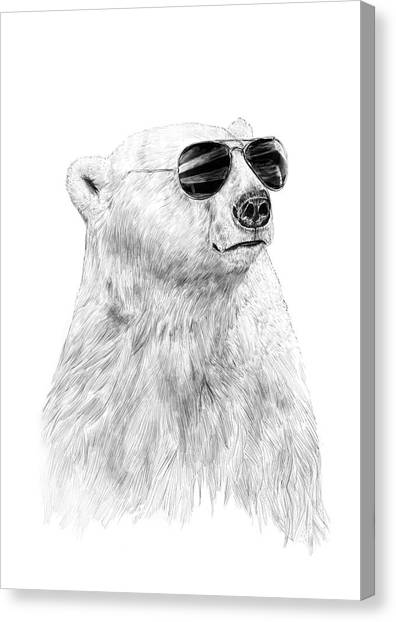 Polar Bears Canvas Print - Don't Let The Sun Go Down by Balazs Solti