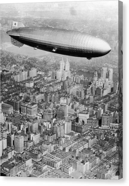 Doomed Airship Canvas Print by Hulton Archive