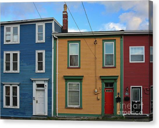 Canvas Print featuring the photograph Doors And Windows In St. Johns Newfoundland by Tatiana Travelways