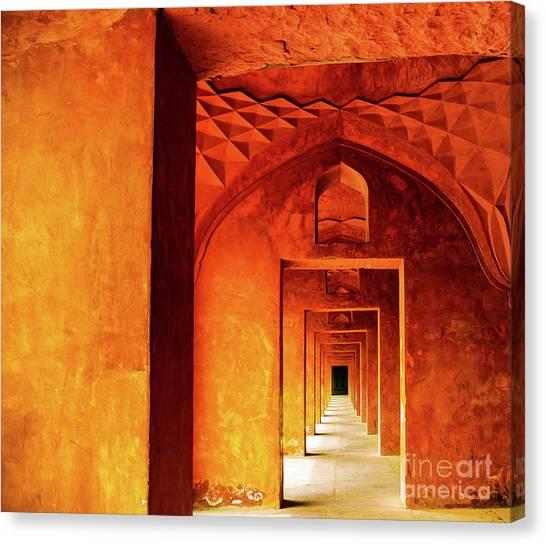 Doors Of India - Taj Mahal Canvas Print