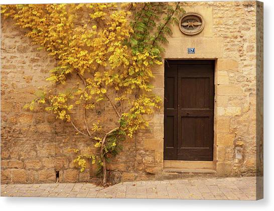 Doorway, Sarlat, France Canvas Print