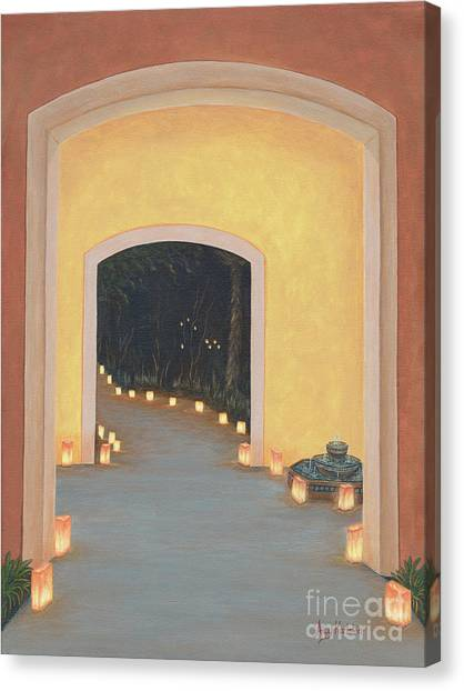 Mexican Canvas Print - Doorway To The Festival Of Lights by Aicy Karbstein
