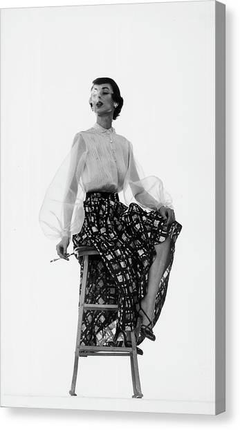 Dorian Leigh Models Canvas Print by Gjon Mili