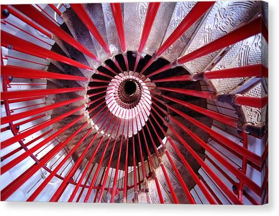 Ljubljana Canvas Print - Double Helix Spiral Stair by Tristan Savatier