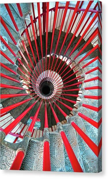 Ljubljana Canvas Print - Double Helix Staircase In Ljubljana by Sebastian Condrea