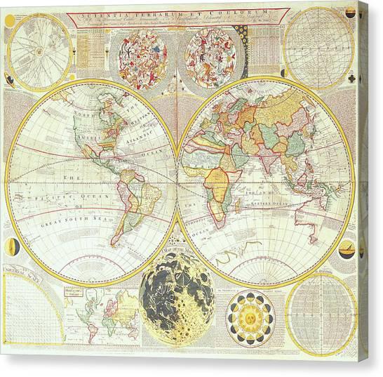 Hemispheres A World Of Fine Furnishings: Double Hemisphere World Map Digital Art By The Map House