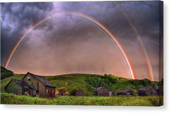 Double Rainbow Rebirth Canvas Print