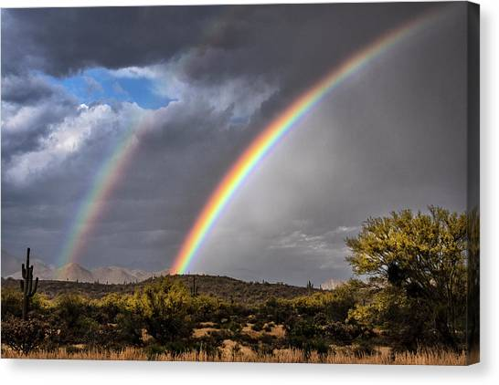 Canvas Print - Double The Rainbow  by Saija Lehtonen