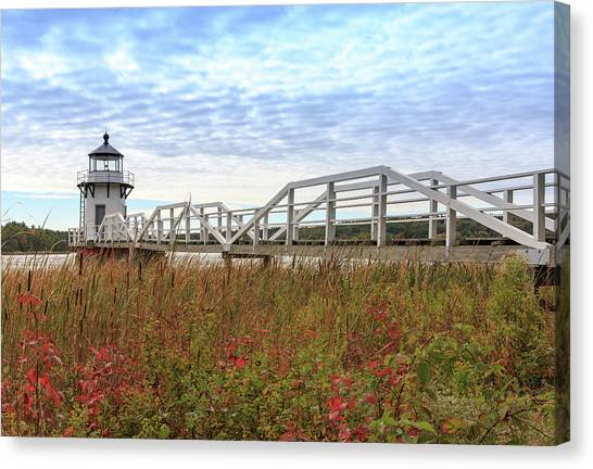 Doubling Point Lighthouse In Maine Canvas Print