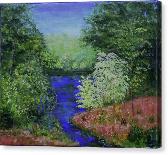 Dow Garden's Pond Canvas Print