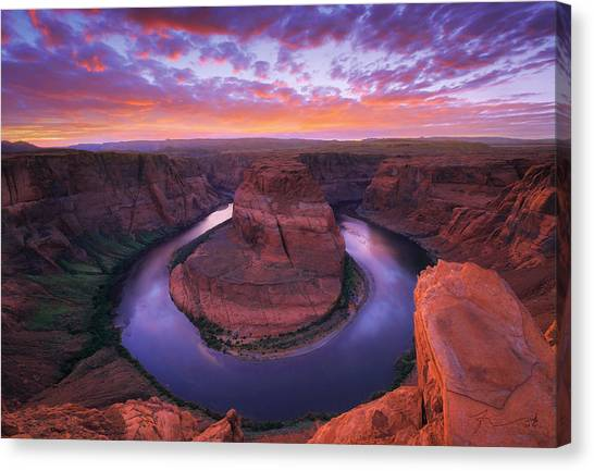 Canyon Canvas Print - Down Beauty by Kadek Susanto