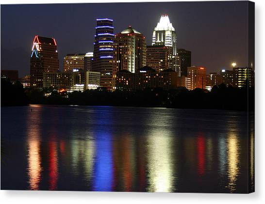 Downtown Austin Skyline Canvas Print by Xjben