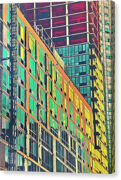 Downtown Canvas Print by Gillis Cone
