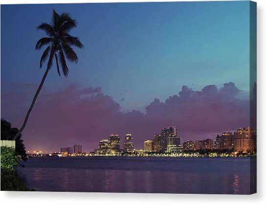 Downtown Lights, West Palm Beach Canvas Print
