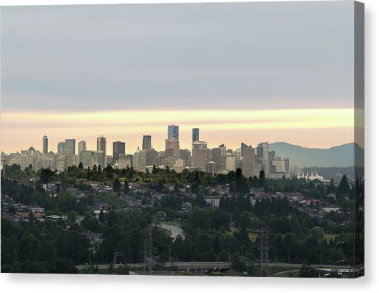Downtown Sunset Canvas Print