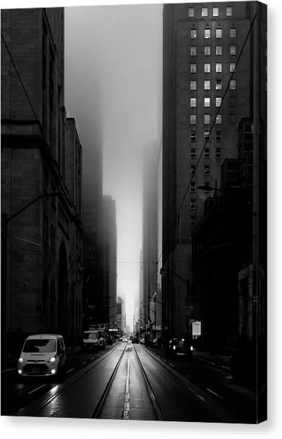 Downtown Toronto Fogfest No 26 Canvas Print
