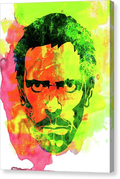M.a Canvas Print - Dr. Gregory House Watercolor by Naxart Studio