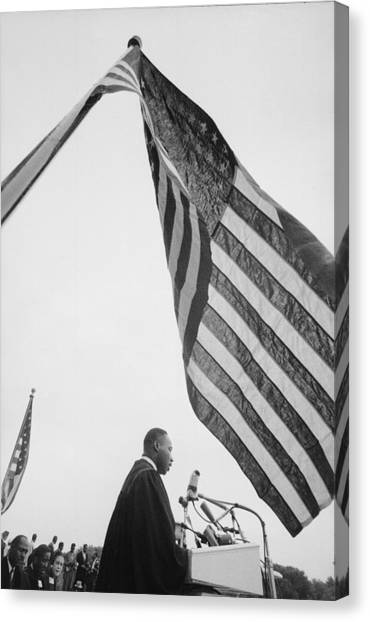 Dr. King Delivers Give Us The Ballot Canvas Print