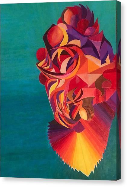 Dragon Koi Canvas Print by Jonathan Favors