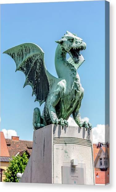 Ljubljana Canvas Print - Dragons Of Ljubljana by W Chris Fooshee