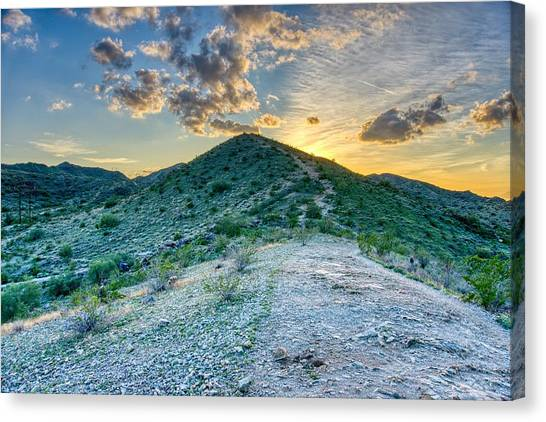 Dramatic Mountain Sunset Canvas Print