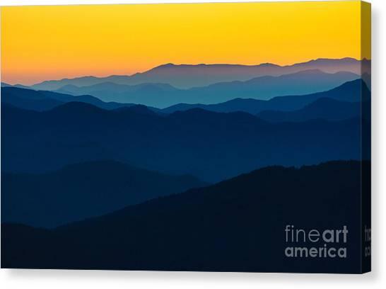 Appalachian Canvas Print - Dramatic Sunrise At Great Smokey by Zack Frank