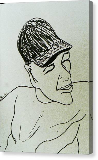 Drawing Canvas Print