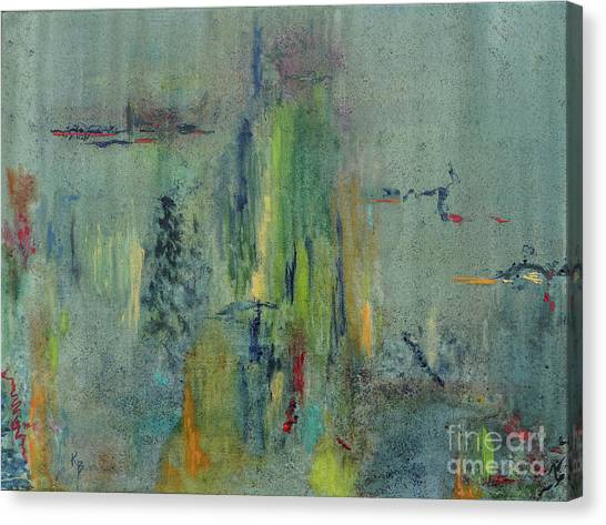 Canvas Print featuring the painting Dreaming #1 by Karen Fleschler