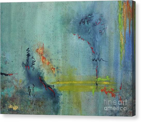 Canvas Print featuring the painting Dreaming #2 by Karen Fleschler