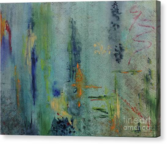 Canvas Print featuring the painting Dreaming #3 by Karen Fleschler