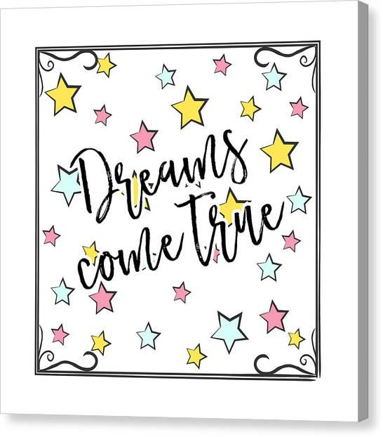 Dreams Come True - Baby Room Nursery Art Poster Print Canvas Print