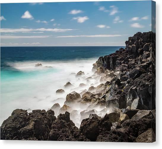 Canvas Print featuring the photograph Dreamy Hawaiian Coastline by William Dickman