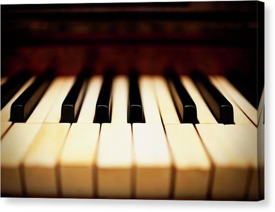 Dreamy Piano Keys Canvas Print by Rapideye