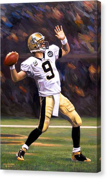 Drew Brees Canvas Print - Drew Brees by Mike Roberts