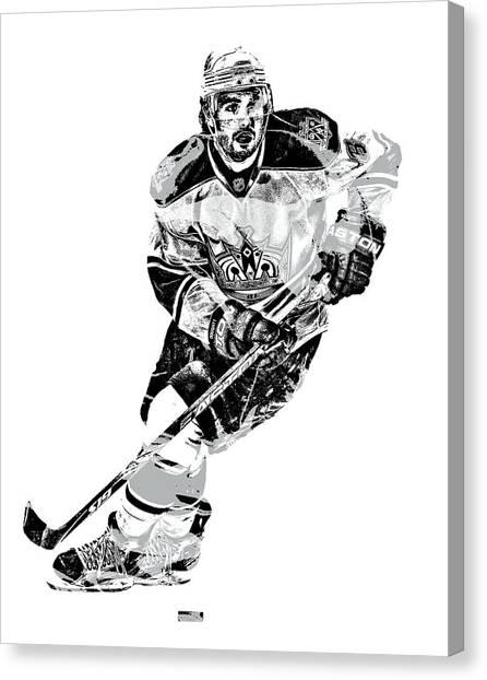 Los Angeles Kings Canvas Print - Drew Doughty Los Angeles Kings Pixel Art 1 by Joe Hamilton