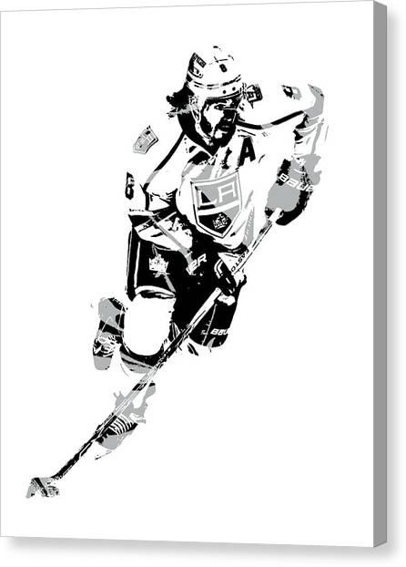 Los Angeles Kings Canvas Print - Drew Doughty Los Angeles Kings Pixel Art 2 by Joe Hamilton