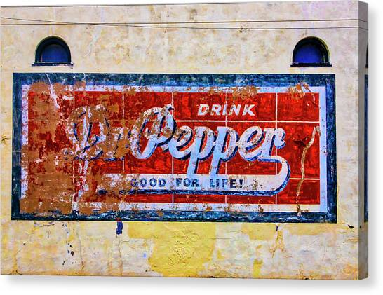 Dr. Pepper Canvas Print - Drink Dr. Pepper Sign by Garry Gay