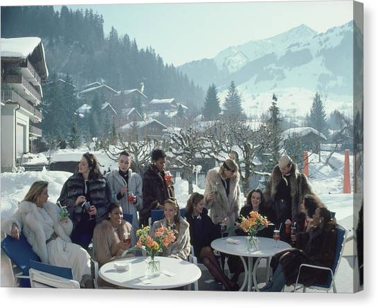 Drinks At Gstaad Canvas Print