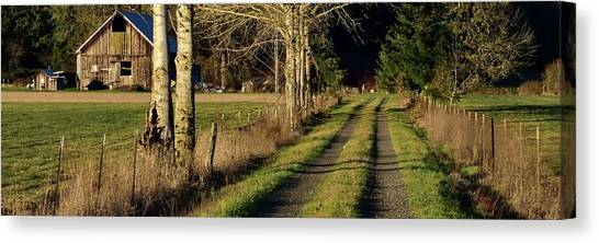 Canvas Print featuring the photograph Driveway Home by Jerry Sodorff