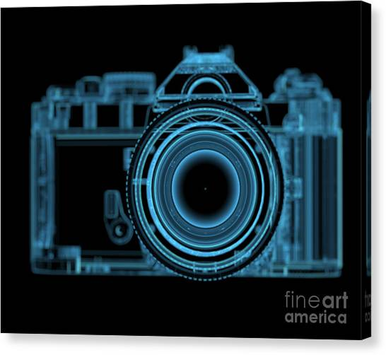 See Canvas Print - Dslr Slr Camera 3d Xray Blue Transparent by X-ray Pictures