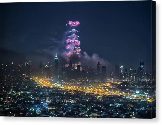 Dubai Canvas Print by Harith Samarawickrama
