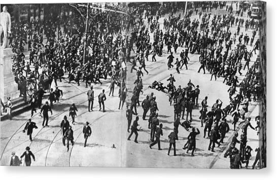 Dublin Riot Canvas Print by Evening Standard