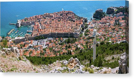 Dubrovnik Panorama From The Hill Canvas Print