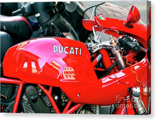 Ducati Reflections In Rome Canvas Print