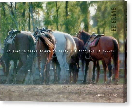 Dude Ranch Quote Canvas Print by JAMART Photography
