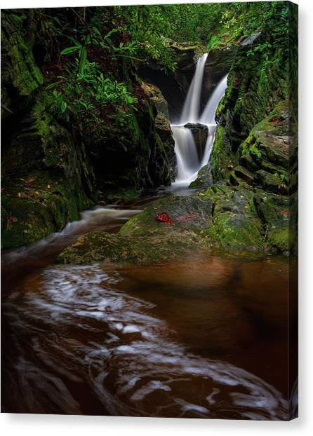 Duggers Creek Falls - Blue Ridge Parkway - North Carolina Canvas Print