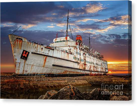 Canvas Print - Duke Of Lancaster Ship by Adrian Evans
