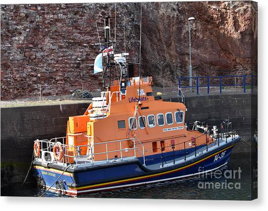 Dunbar Lifeboat Canvas Print by Yvonne Johnstone