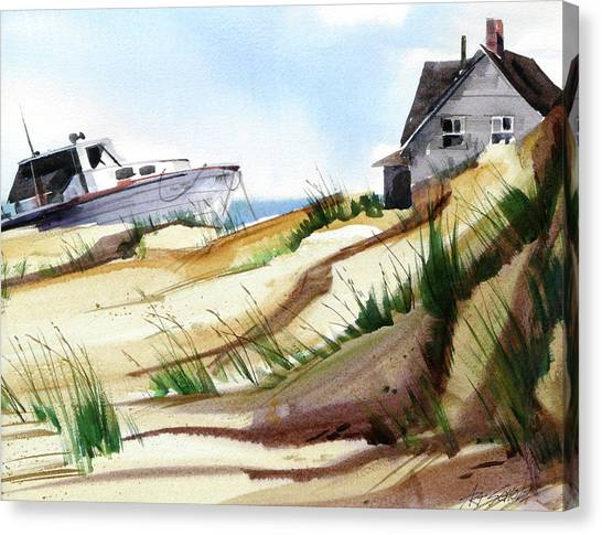 Dune Docked Canvas Print by Art Scholz
